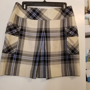 Mossimo Black&Blue&White Plaid Skirt